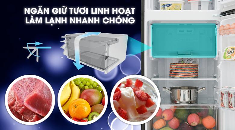 Ngăn giữ tươi linh hoạt - Tủ lạnh Sharp Inverter 196 lít SJ-X201E-DS