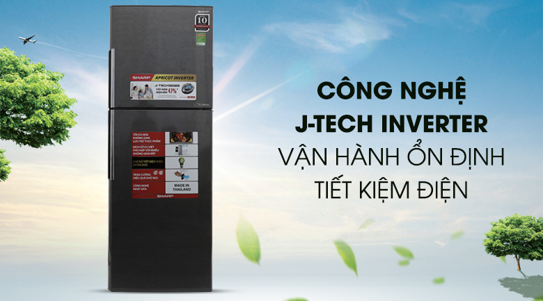 J-Tech Inverter - Tủ lạnh Sharp Inverter 314 lít SJ-X316E-DS
