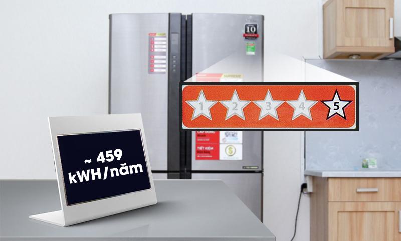 Tủ lạnh Sharp 626 lít SJ-FX630V-ST - 5 sao