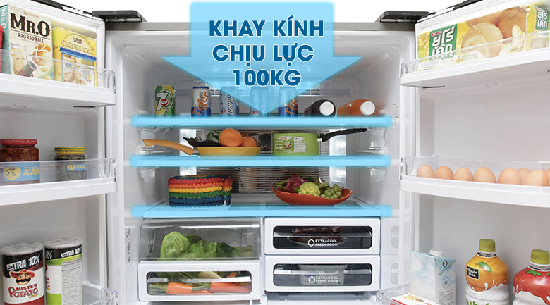 Tủ lạnh Sharp 626 lít SJ-FX630V-ST - Kính chịu lực