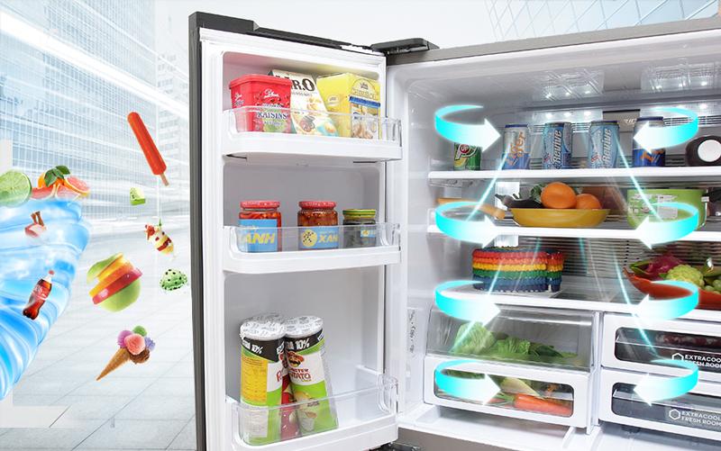 Tủ lạnh Sharp 626 lít SJ-FX630V-ST Làm lạnh kép