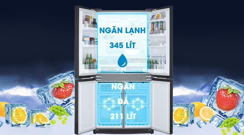 Tủ lạnh Sharp 626 lít SJ-FX630V-ST - Dung tích lớn